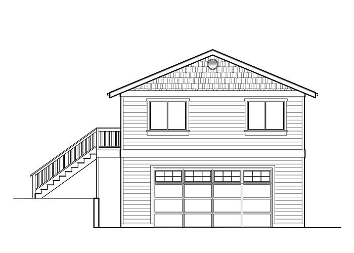 25x32 Garage with Living Space - Garage Sq. Ft.: 800 Sq. Ft.Upper Floor Sq. Ft.: 800 Sq. Ft.Bedrooms: 2Bathrooms: 1Garage: 2 Car
