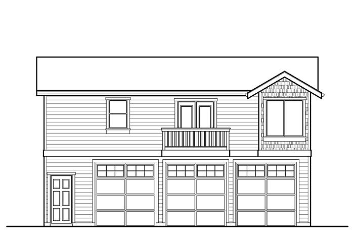 36x26 Garage with Living Space - Garage Sq. Ft.: 1008 Sq. Ft.Upper Floor Sq. Ft.: 948 Sq. Ft.Bedrooms: 1Bathrooms: 1Garage: 3 Car