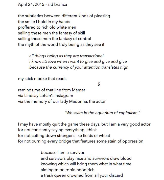 manymistypes :     April 24, 2015 -  sidbranca  /  thisbedisaship