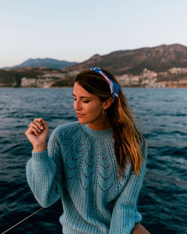 Happiest when I'm on the water. @yachtgetaways .  Sweater by @sezane 💙