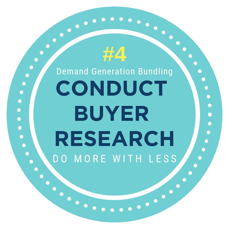 Demand Generation Bundling conduct buyer research