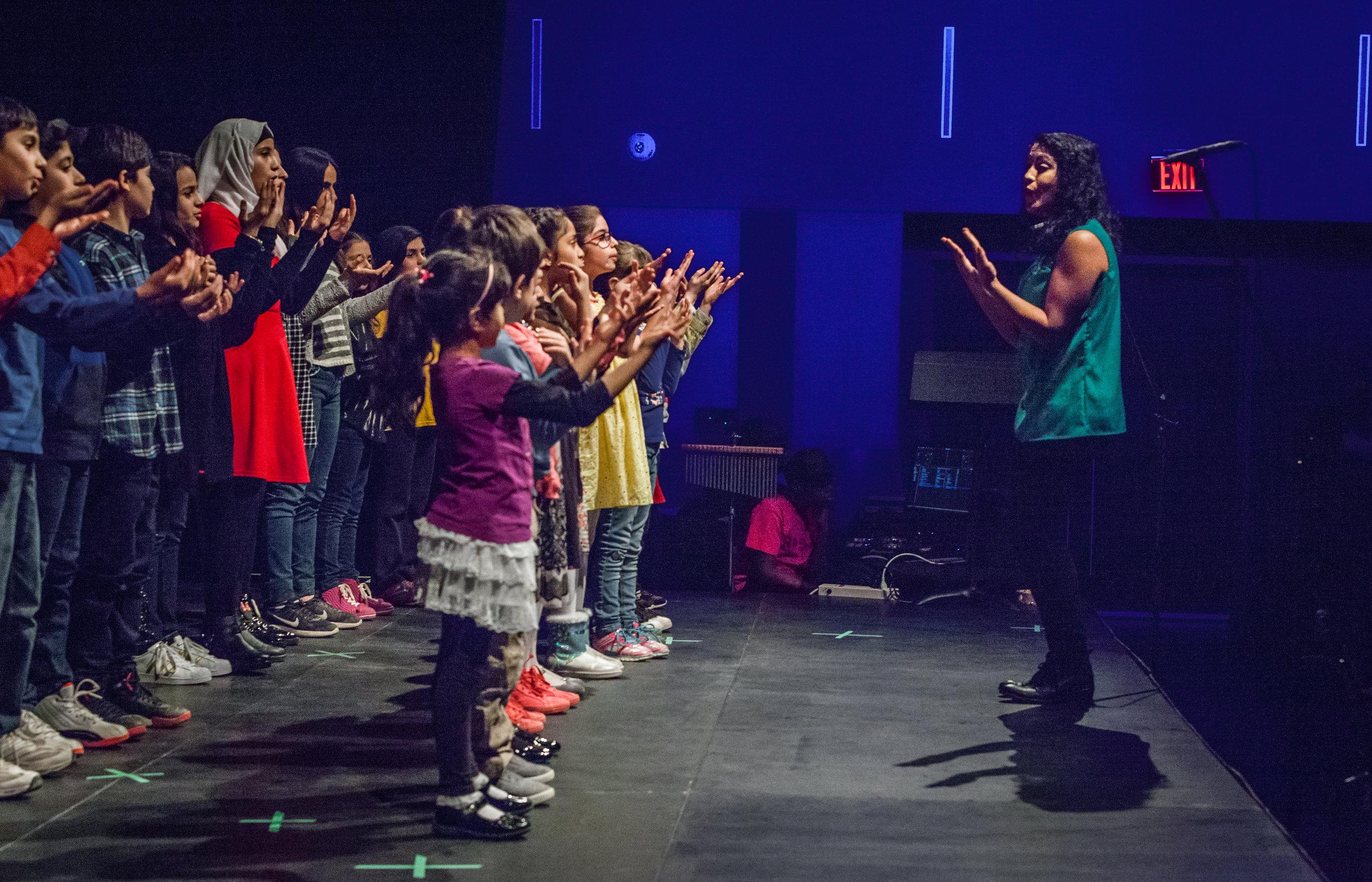 RPSM teacher Tahirih directed Nai Choir at Regent Park School of Music Recital in 2018