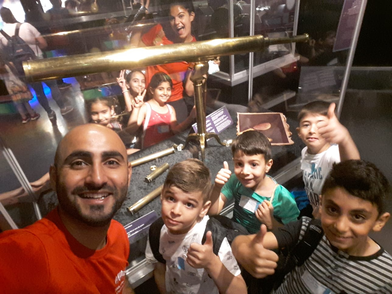 Syrian musician and music teacher Hanna had endless games and energy when he was with Nai children