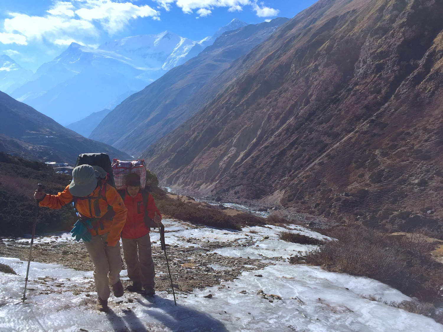My darling daughter Bella treading very carefully over an icy path along the Annapurna circuit in Nepal. Once step at a time, one day at a time, one breath at a time.
