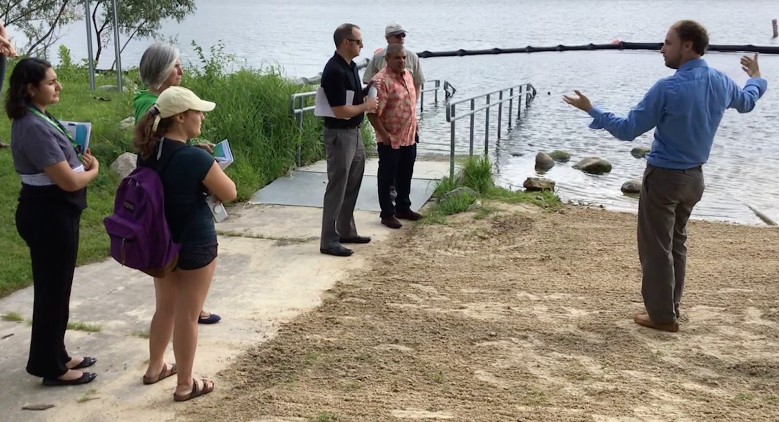 Jon Reimer of Land and Water shows us the clean beach treatment system