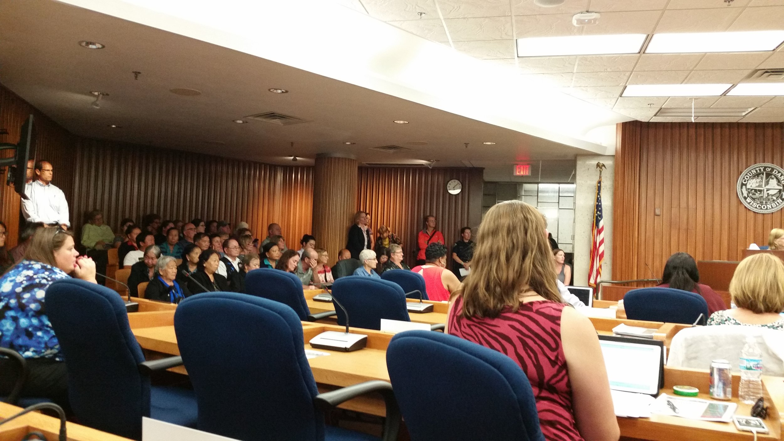 Packed house for budget hearings on September 12th.