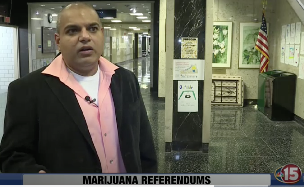 YOgesh chawla speaks to nbc 15 about the cannabis referendum.