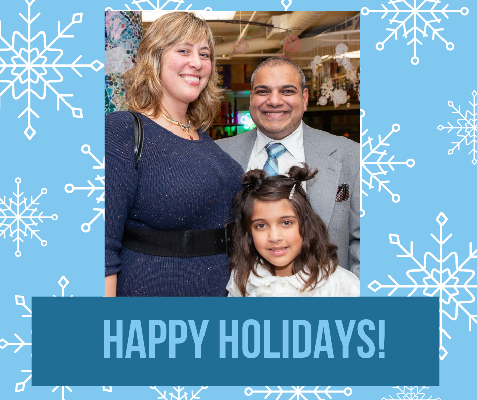 Happy holiday from yogesh, jodi and marigold. photo credit: Ingrid laas