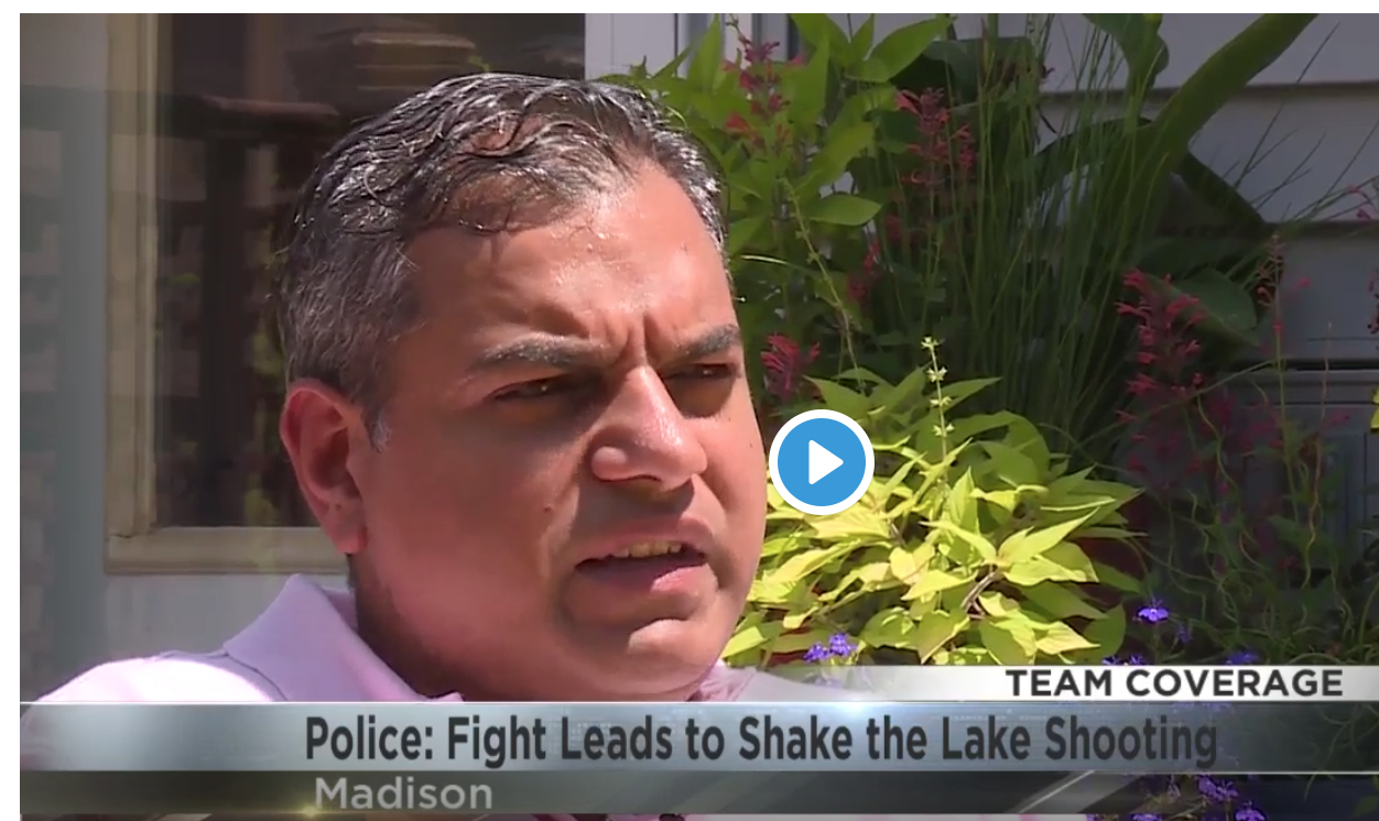 Yogesh discusses the Shake the Lake Shooting with Tony Galli of WKOW 27