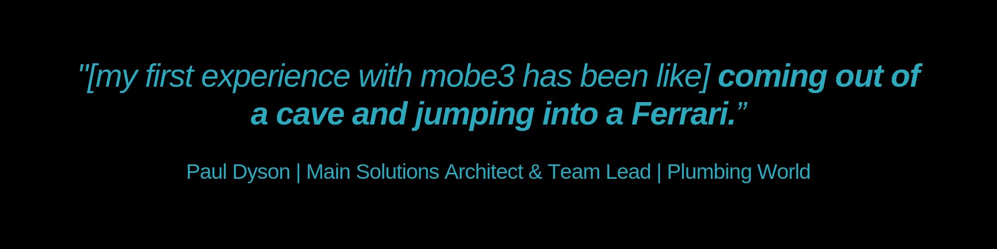 mobe3 testimonial, Plumbing World