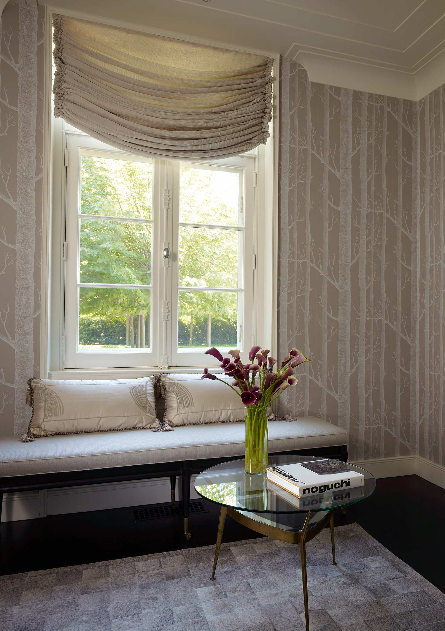 upholstery & window treatments  Interior Design: Leslie Jones & Associates, Inc.