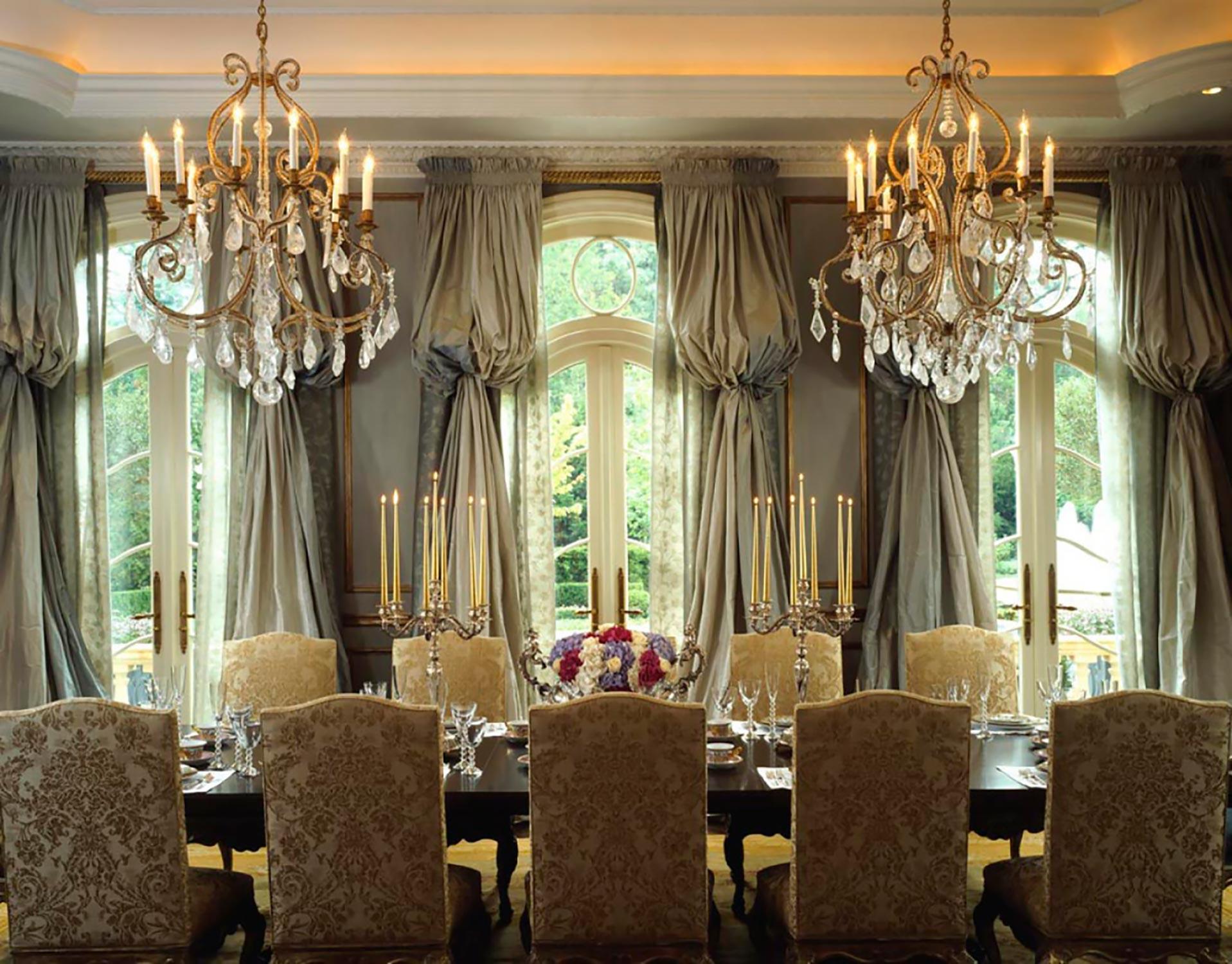 window treatments  Interior Design: Howard Design Group