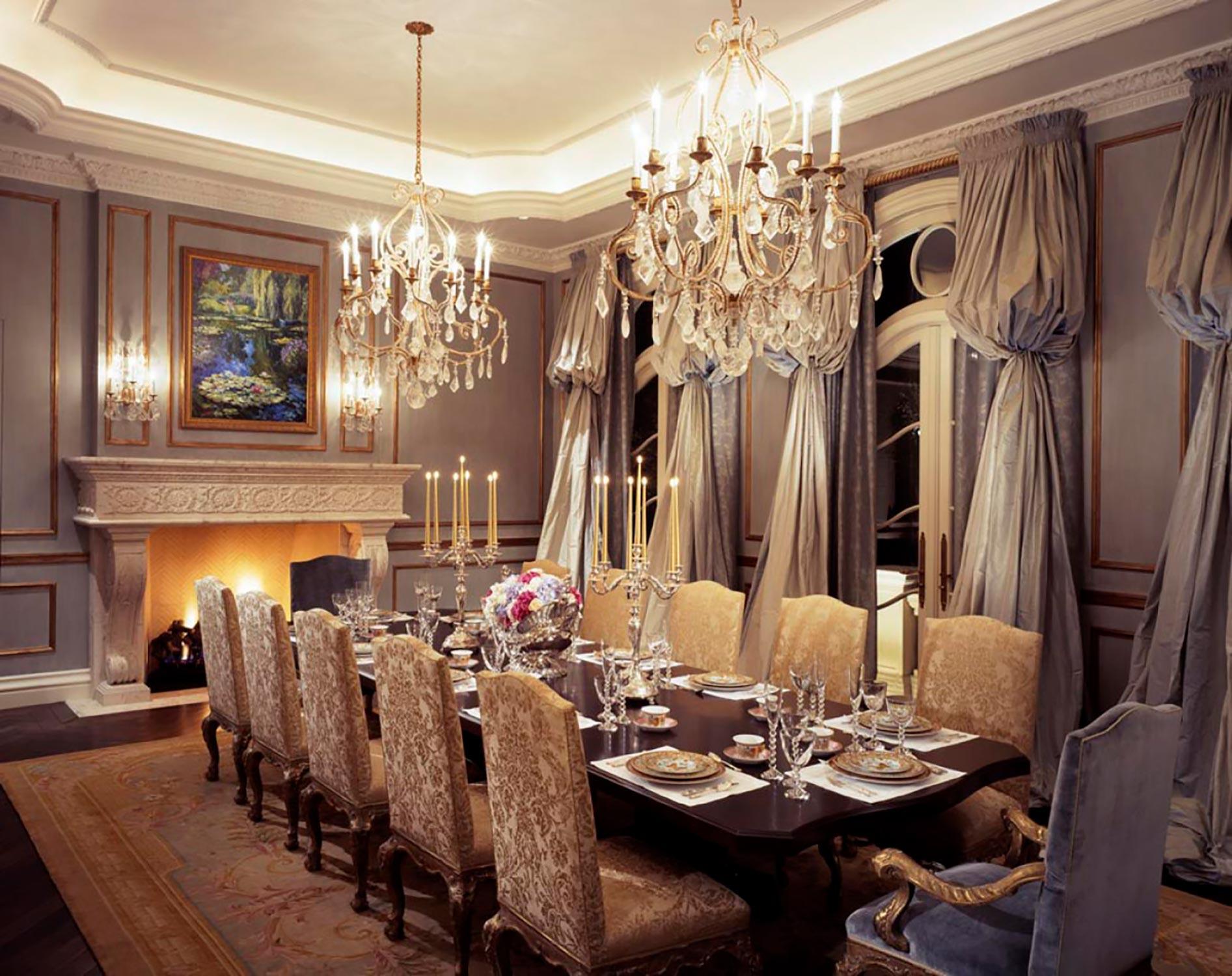 window treatments, upholstery & throw pillows  Interior Design: Howard Design Group