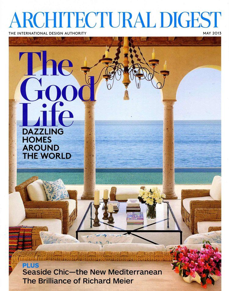 Furniture Design: John Himmel Decorative Arts  architectural digest, may 2013  upholstery & throw pillows