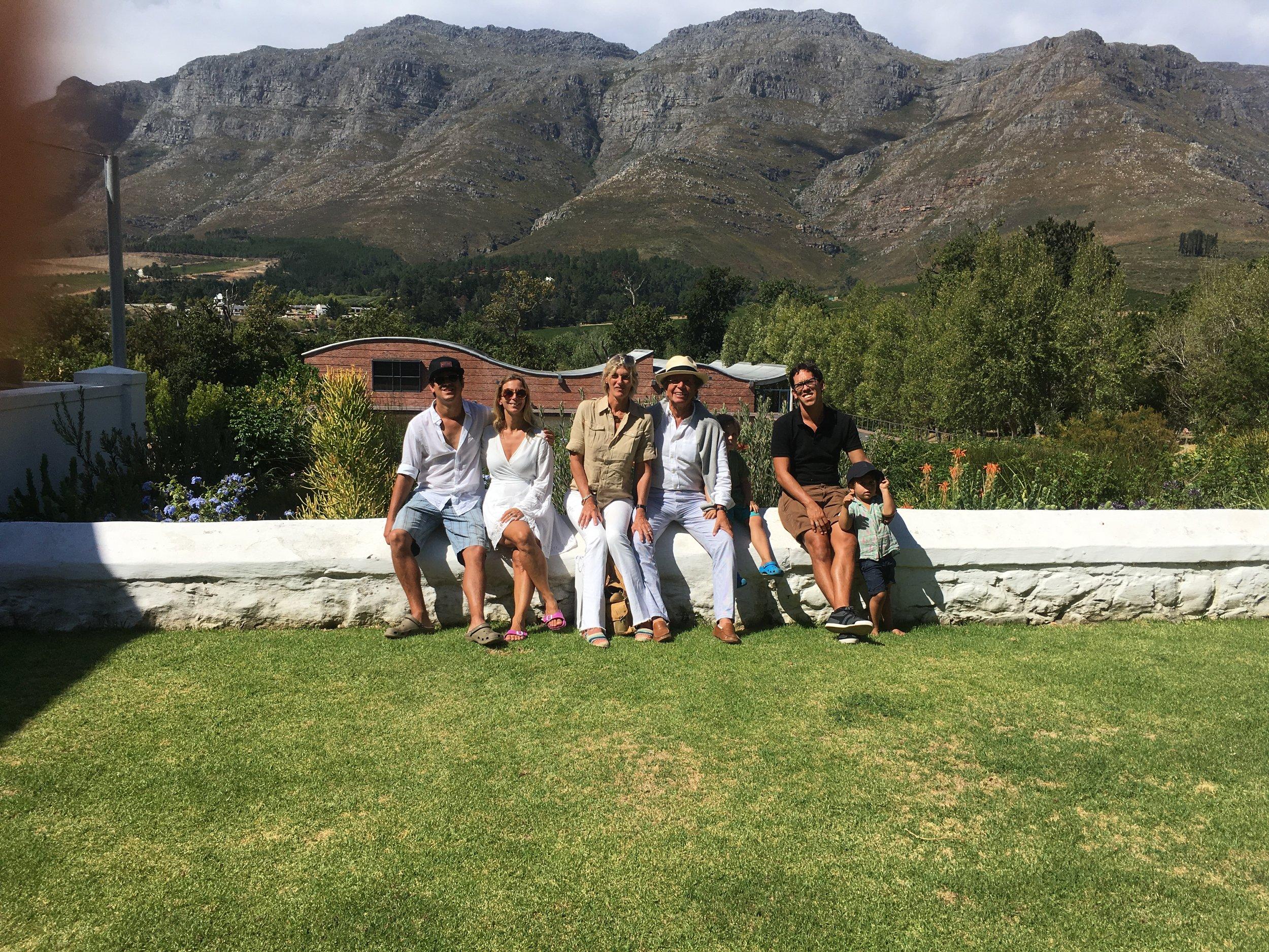 En Stellenbosh, visitando los viñedos.