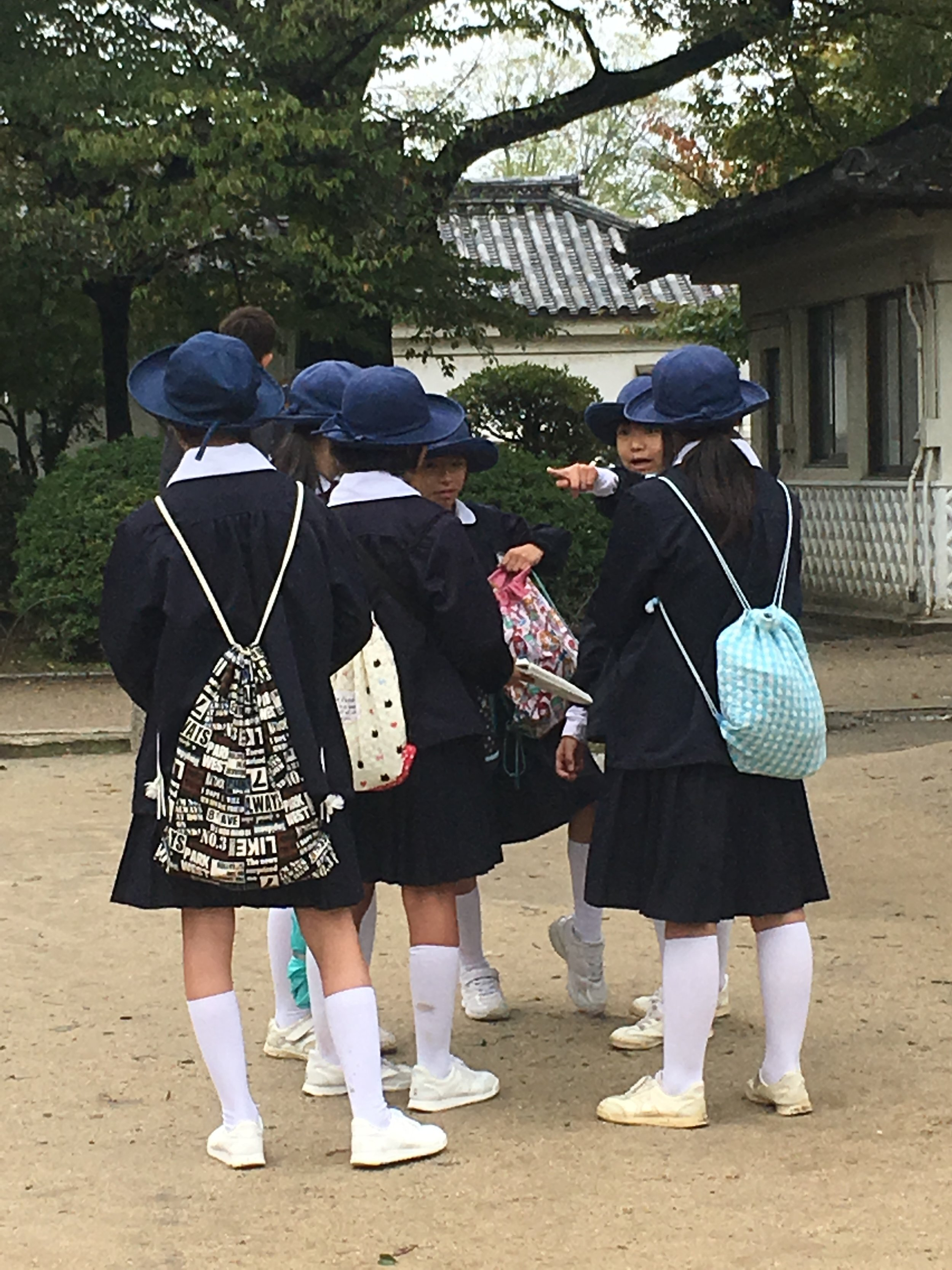 Girls from an excursion school.