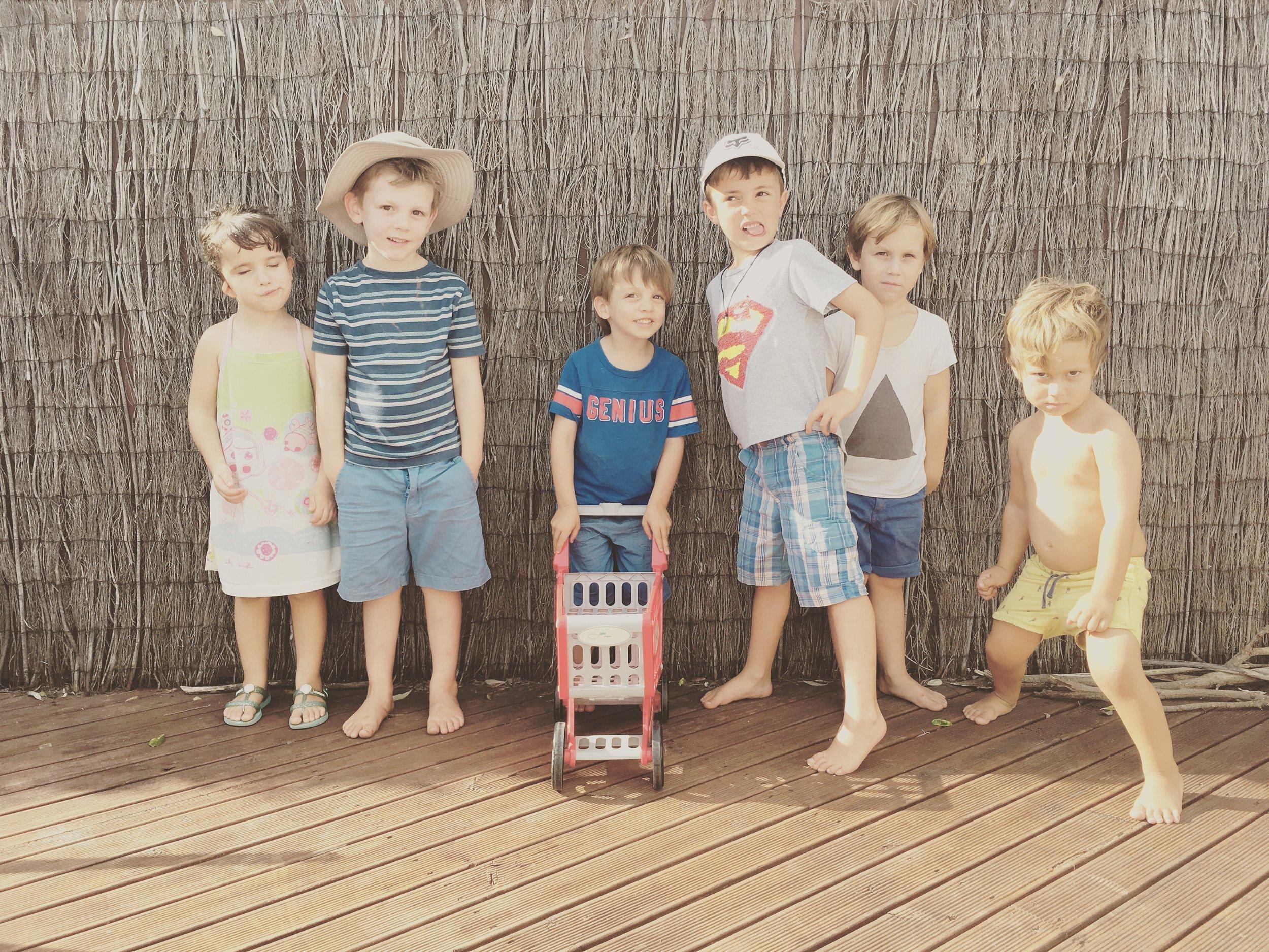 Ela, Lucca, Marco, Pablo, Beni and Blas.