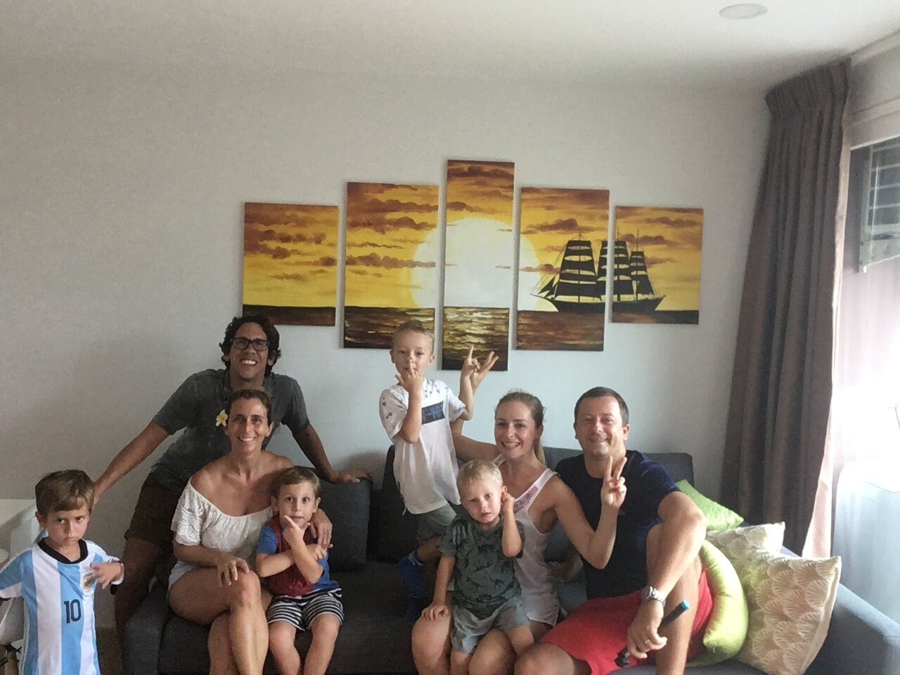 In Thailand, with David, Janka, Oli and Jakob.