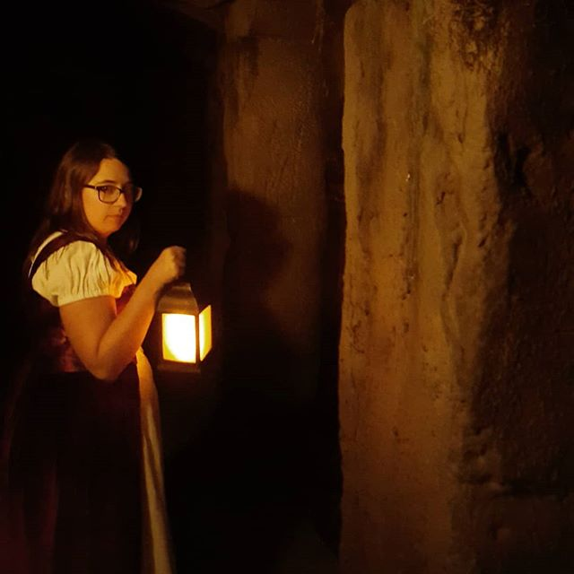 """""""Only the bravest of souls enter the catacombs."""" Best theme park ever. #evermorepark #dnd #quest #cosplay #costume #evermore #lore #vacation"""