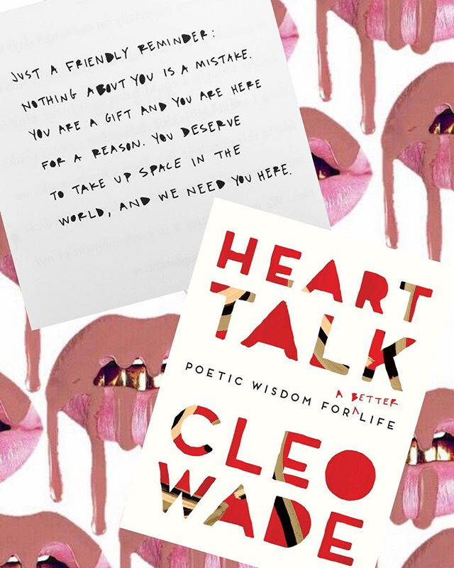 Someone recommended this book to me and I must admit that I thoroughly enjoyed reading this breathe of fresh air. Heart Talk by @cleowade was such a beautiful and refreshing read. It is a mixture of poetic wisdom that I think everyone can use in their everyday lives. Every now and then we all seek reassurance in both our personal and/or professional lives and Heart Talk is a perfect read that will help ease any nervewracking emotions. Click the link in my bio to read my top fifteen quotes from Heart Talk!