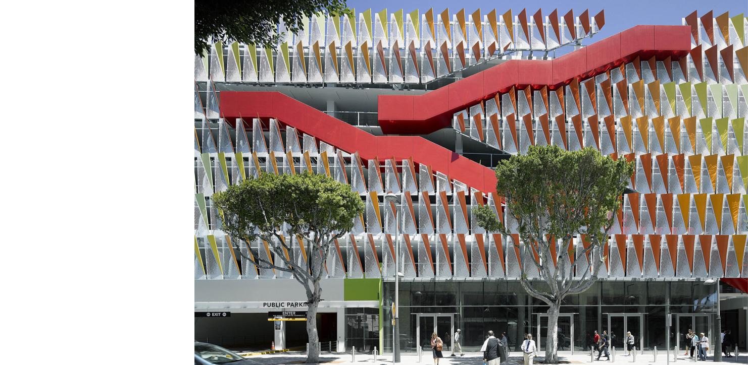 Parking Structure 6 /// Client: City of Santa Monica /// Retail, public parking, bicycle rack and lockers /// Santa Monica, CA /// https://www.studiojantzen.com/projects/santa-monica-parking-6