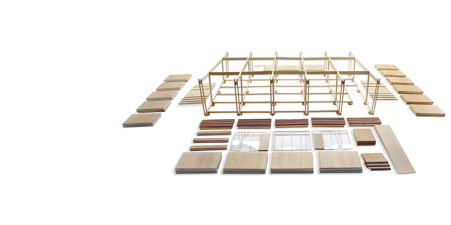 Kit of Parts /// Portable classroom /// In Development /// Assembly on site /// https://www.studiojantzen.com/projects/portable-classroom