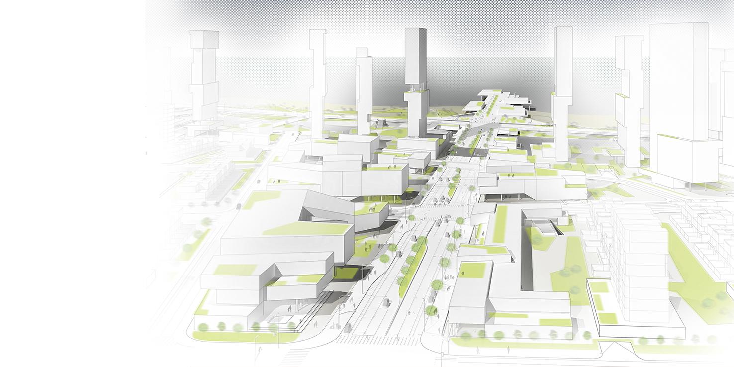 Qingdao Masterplan /// Client: China Railway Expo City /// Urban Planning /// Qingdao, China /// https://www.studiojantzen.com/projects/qingdao-masterplan-china