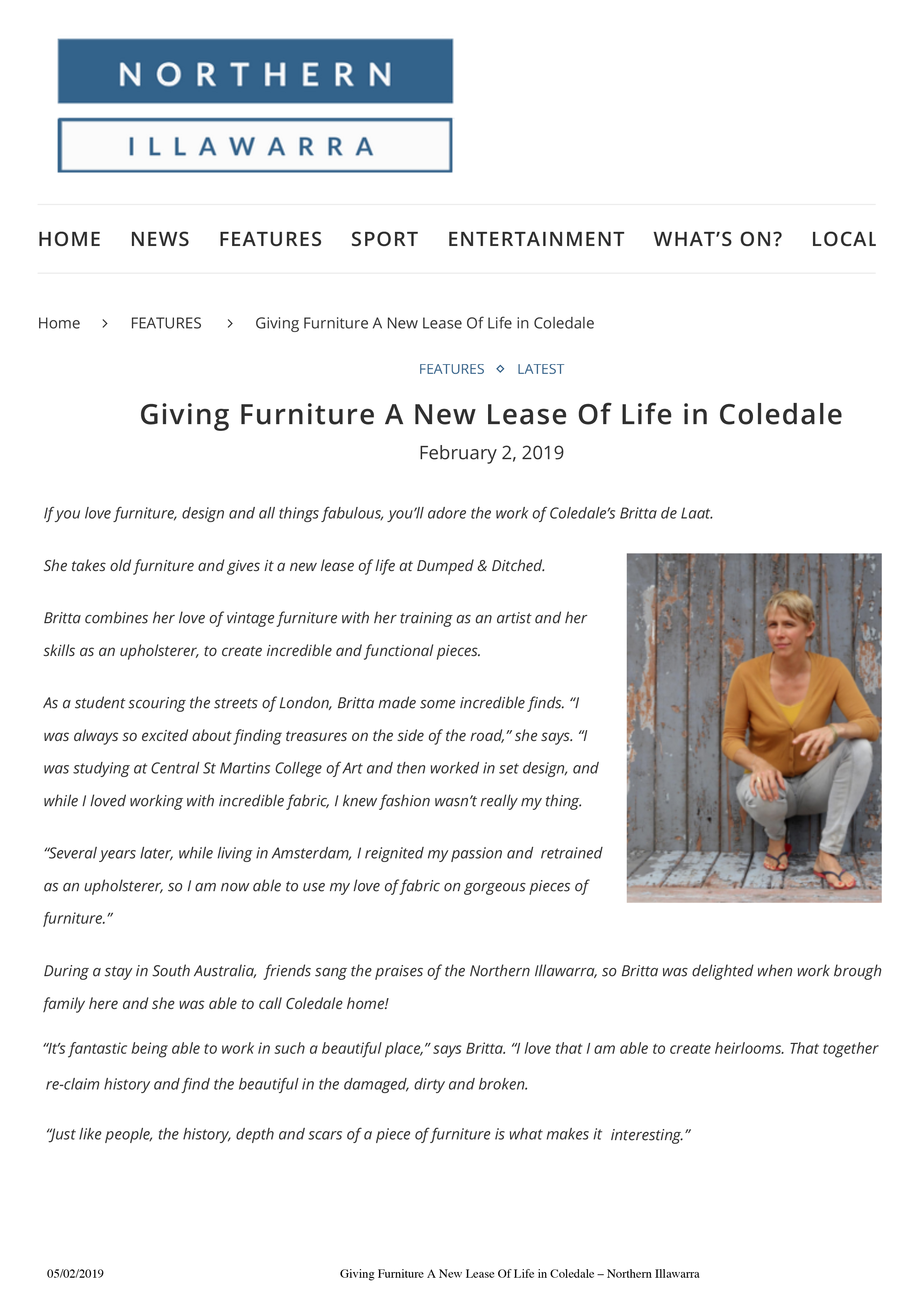 Giving Furniture A New Lease Of Life in Coledale – Northern Il