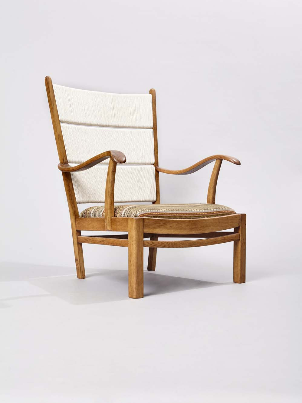 Oak chair covered in Paul Smith stripes diagonal.jpg
