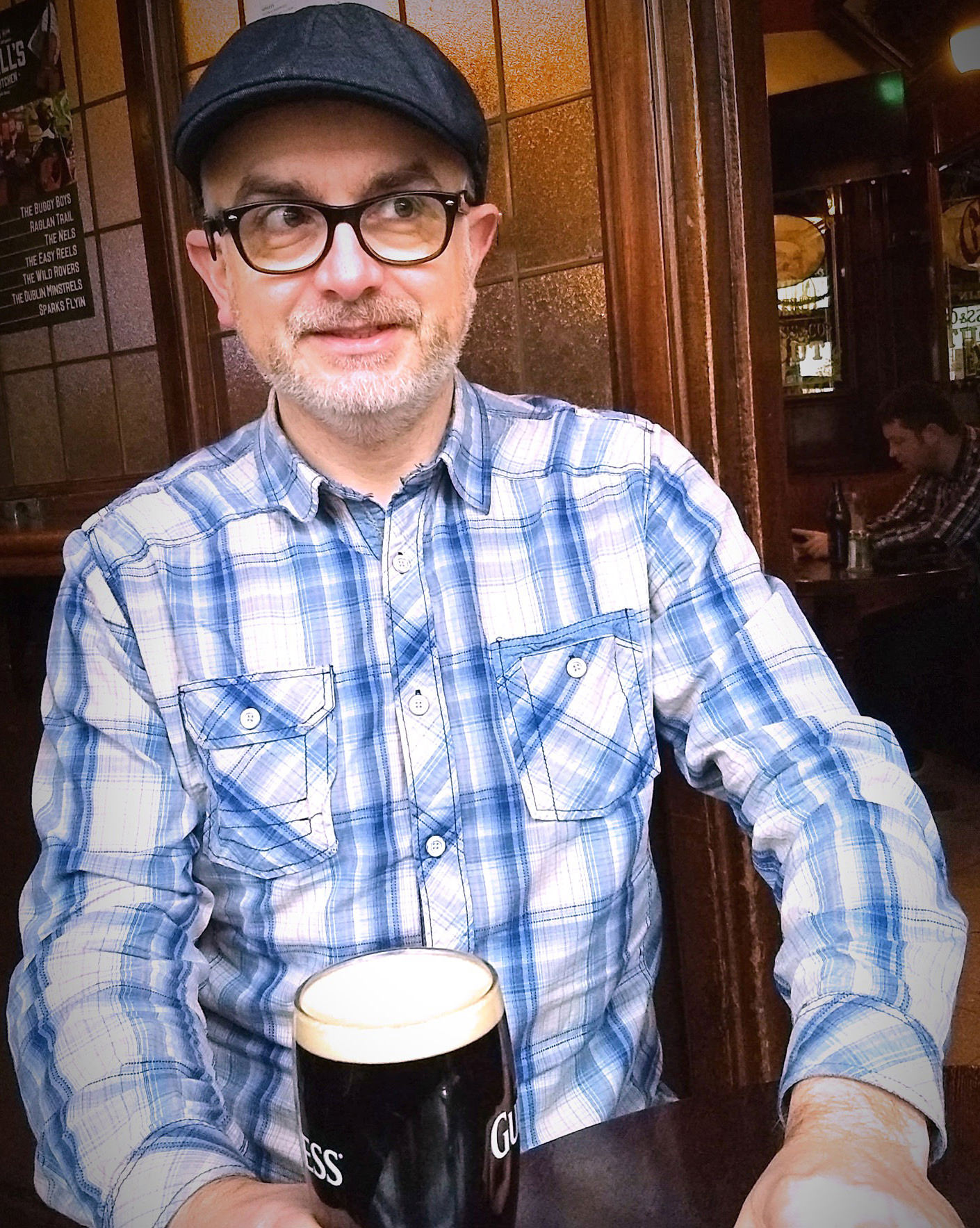 """The moment I'd been waiting for! A pint of the """"black stuff."""""""