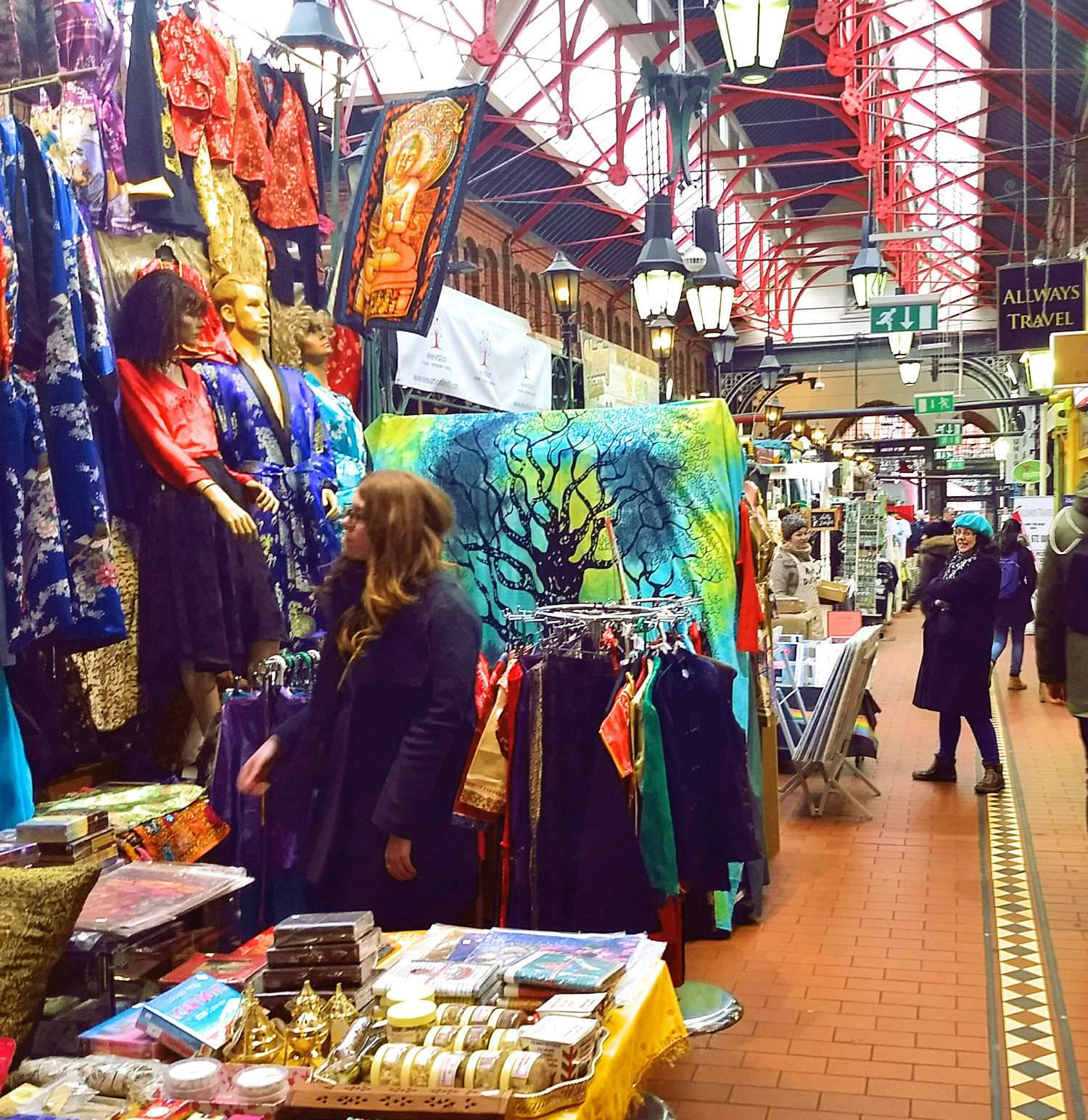 Quaint, quirky , colourful and cosy. George's Street Arcade.