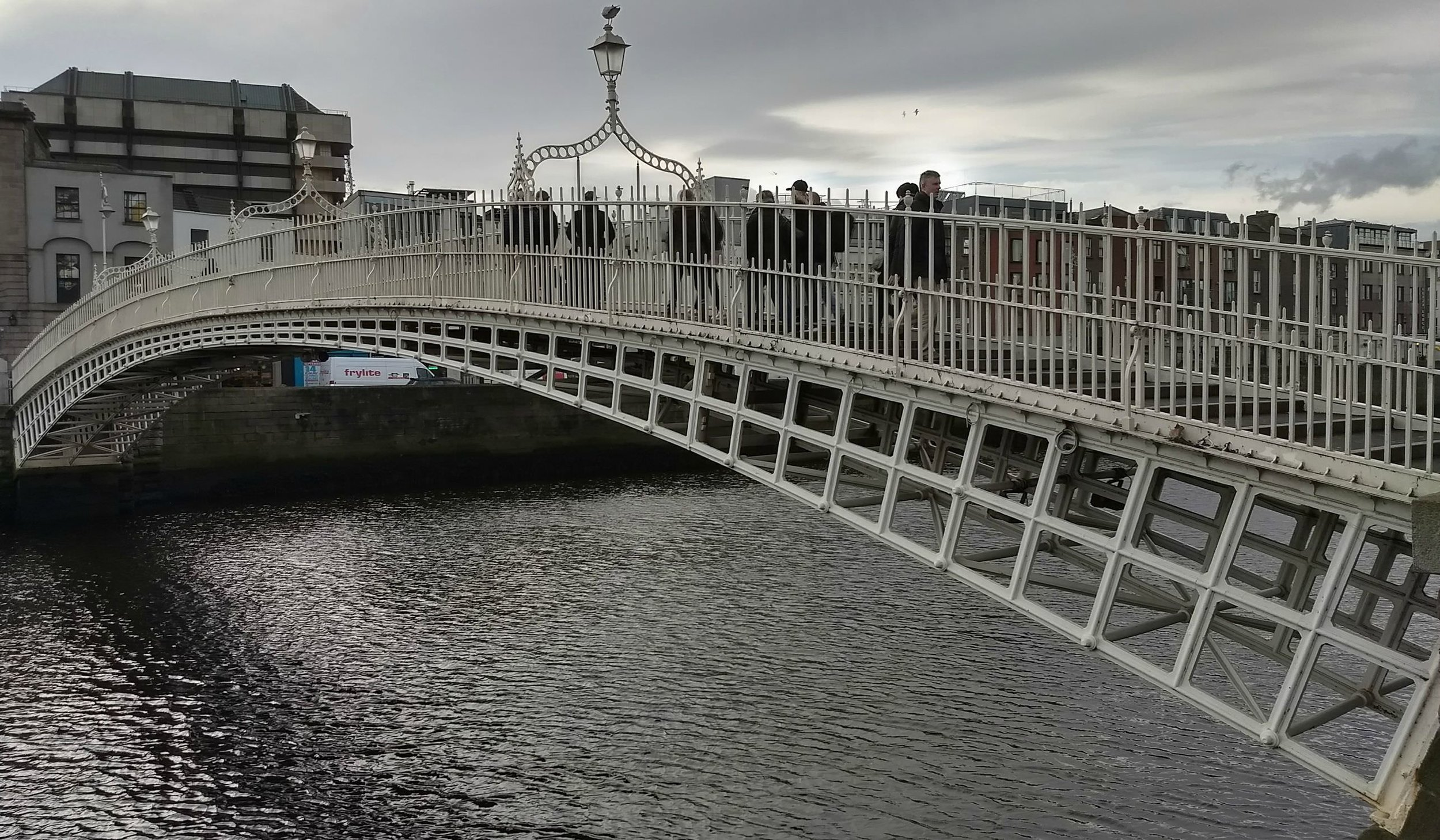 Take a stroll over the picturesque Ha'Penny Bridge which presides over the River Liffey.