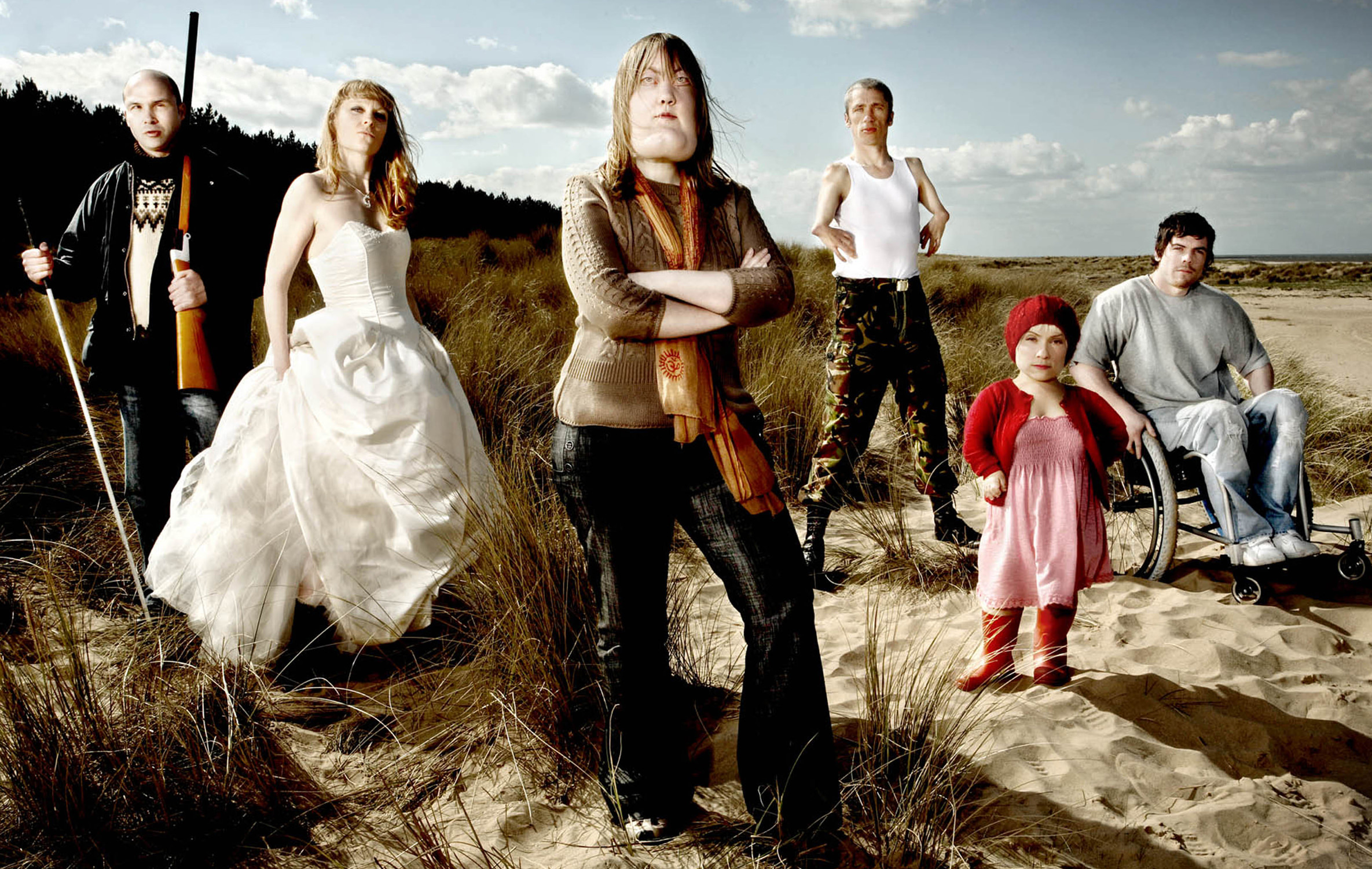 Promotional poster for the Channel 4 series 'Cast Offs.' Sophie played the character Gabby.