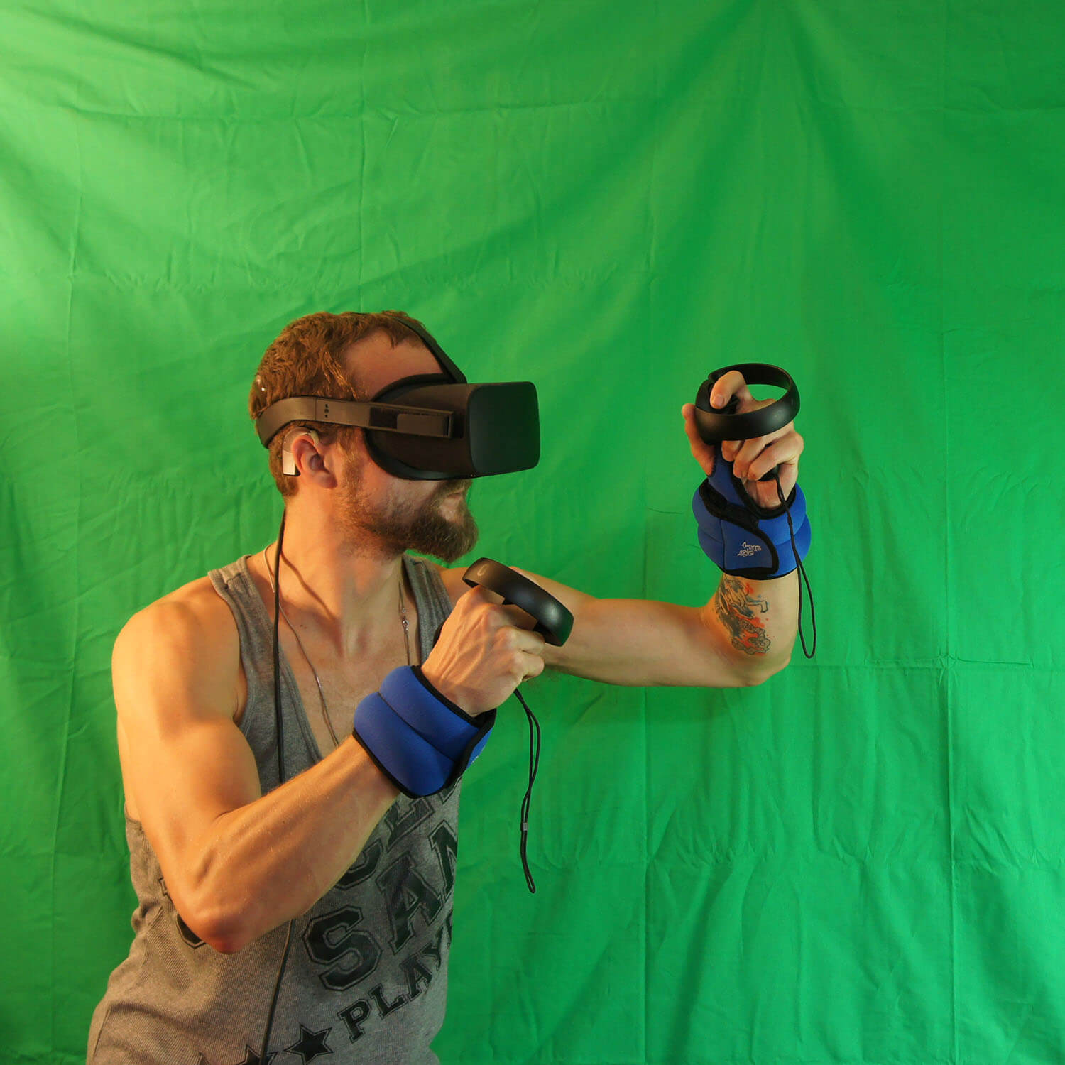 Eric Giessmann experimenting with Virtual Reality techniques.