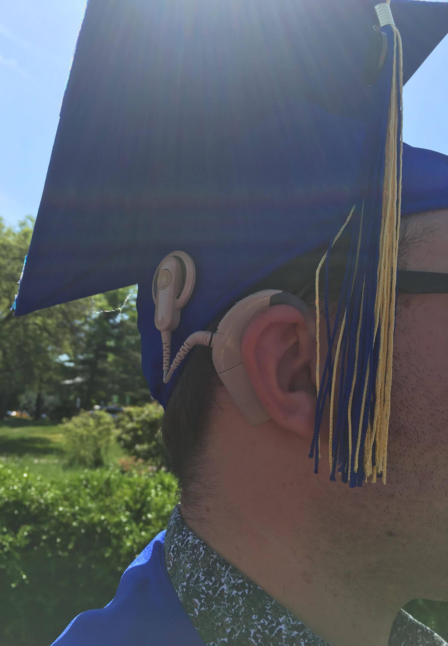 Alek, the Cochlear Implant Musician. Graduation day!