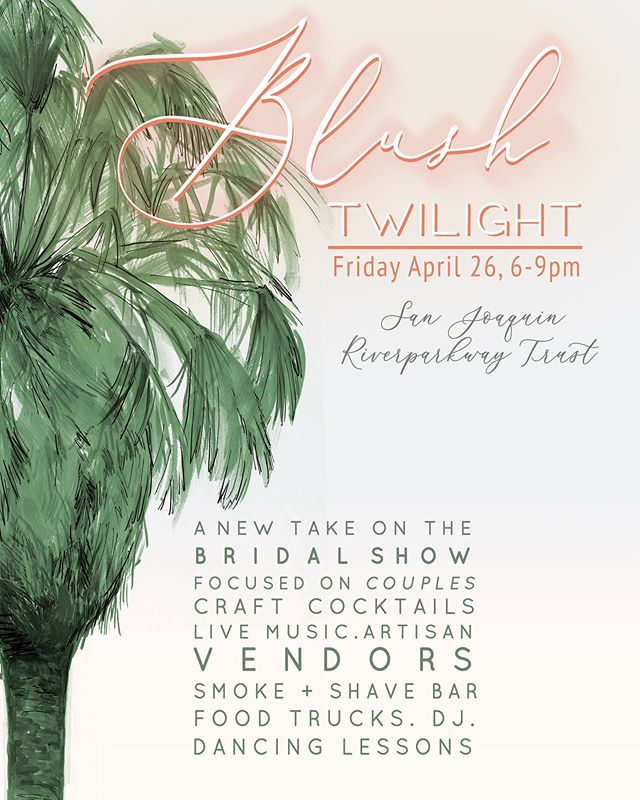 We'll be out at Blush Twilight🤵🏻👰🏽 this evening from 6-9pm 🌅 We're excited to talk to all you lovely couples in the hippest bridal show around & showcase what we can offer to your special day.❣️ #blush #blushtwilight2019  #youremakingmeBlush #mattiespizza #catering #VillaNascosta #weddingvenue #bridal #bridalshow #fresno #wedding #thefresnocollective