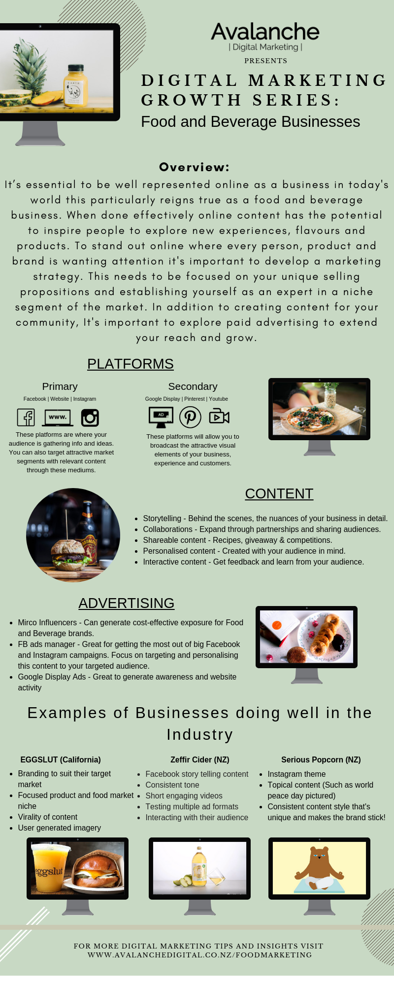 NZ Food Business Digital Marketing Ideas