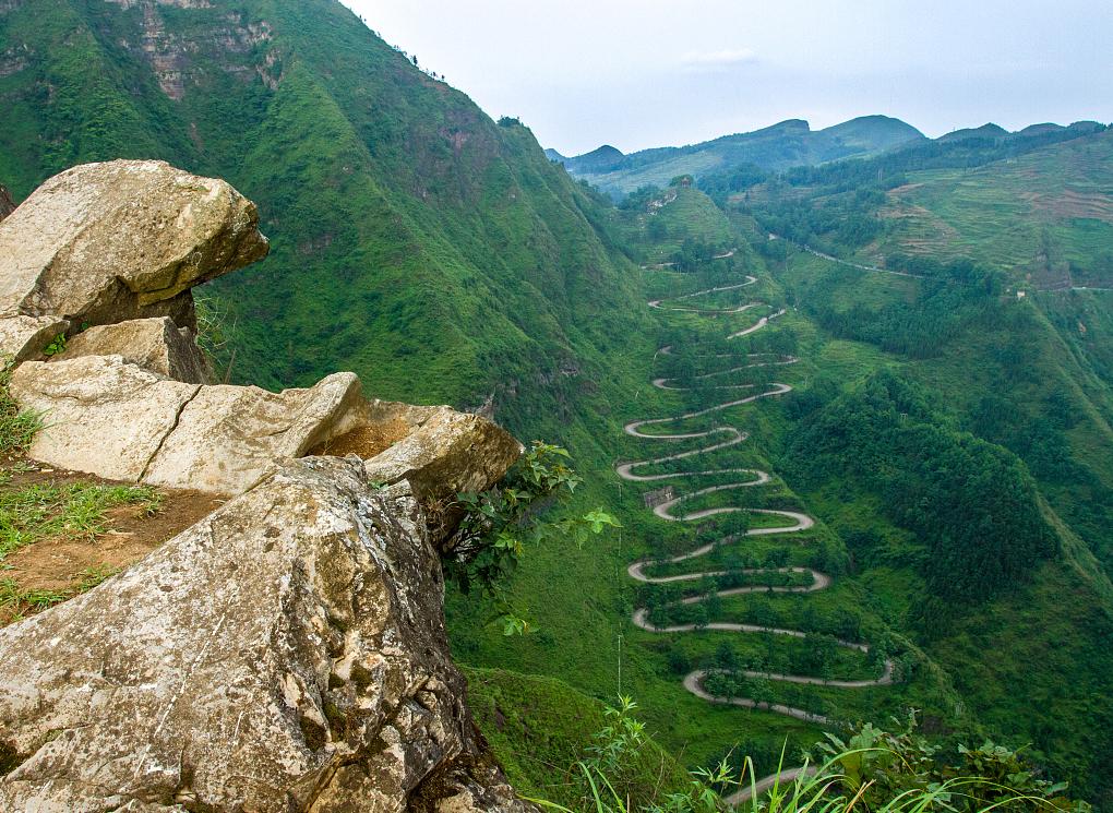 双山大峡谷景区,凉风习习。是贵州省著名景区之一。