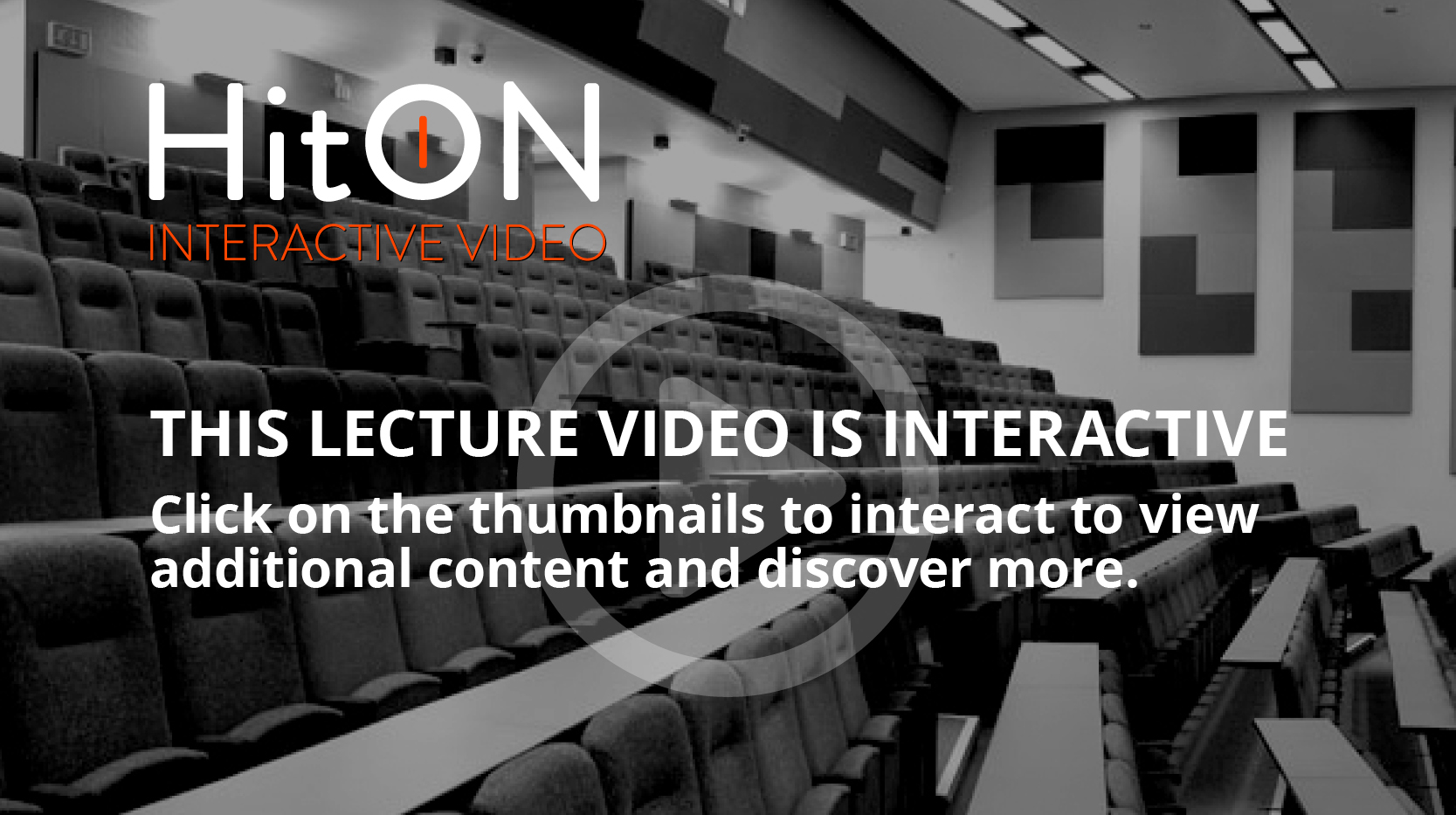 Click on the image above to watch the Interactive Lecture Video featuring Dr Brian Cox.