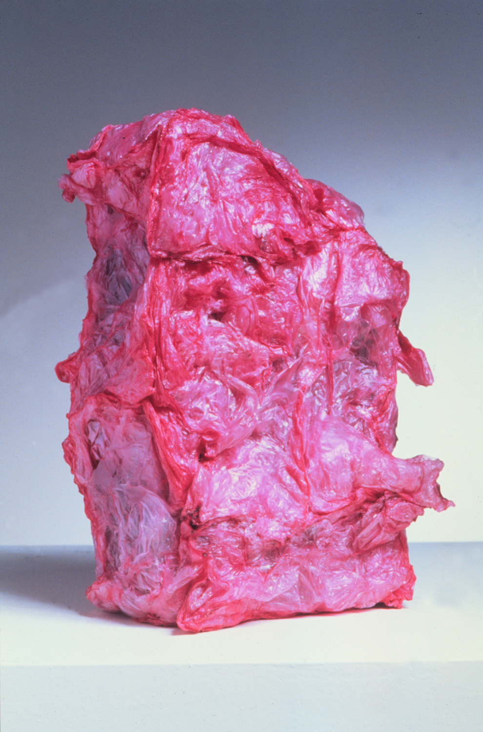 Hidden Paranoia , object (plastic bags. fire, found clay brick), 1999