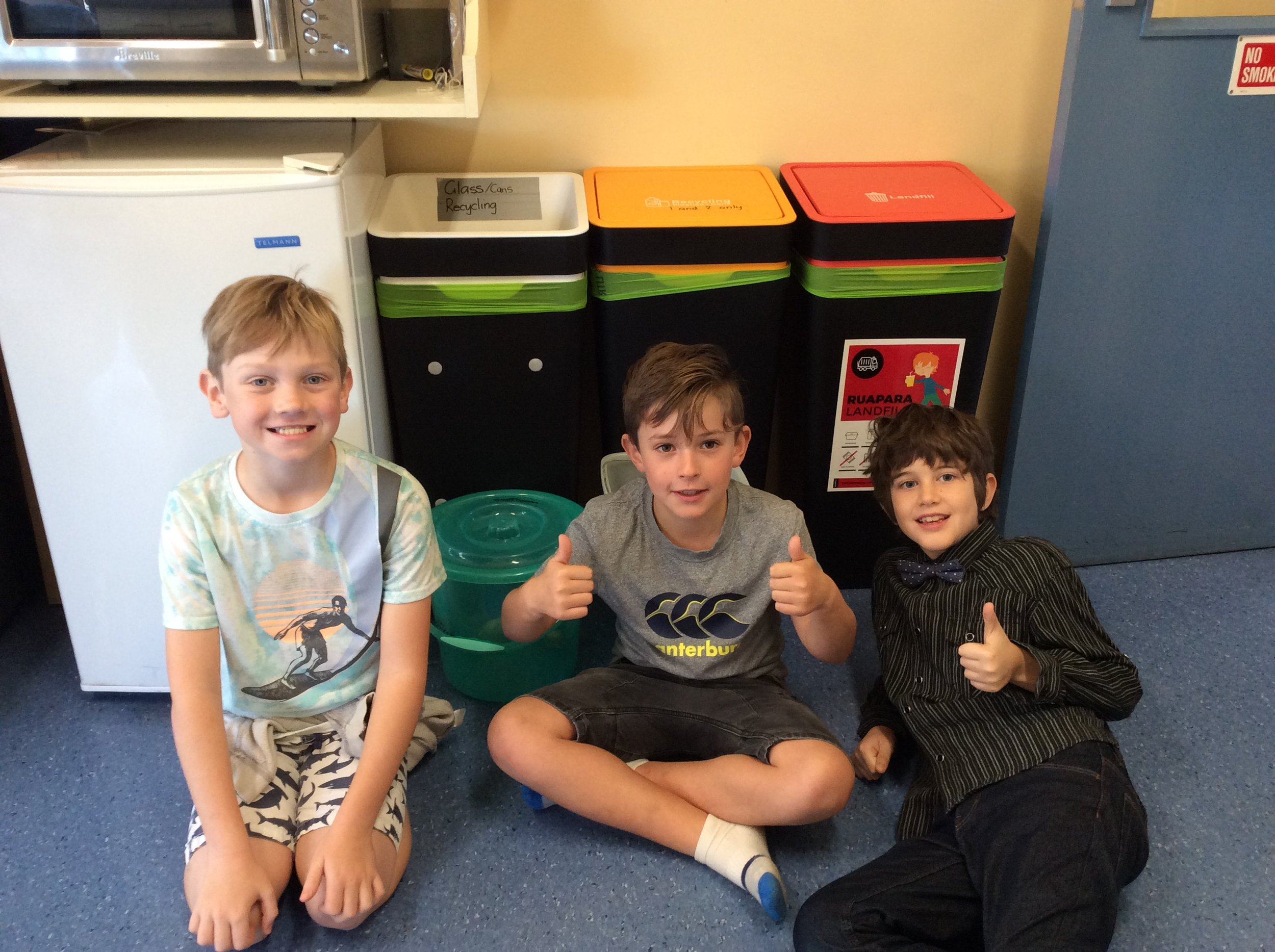 We've been learning about recycling for the school website.