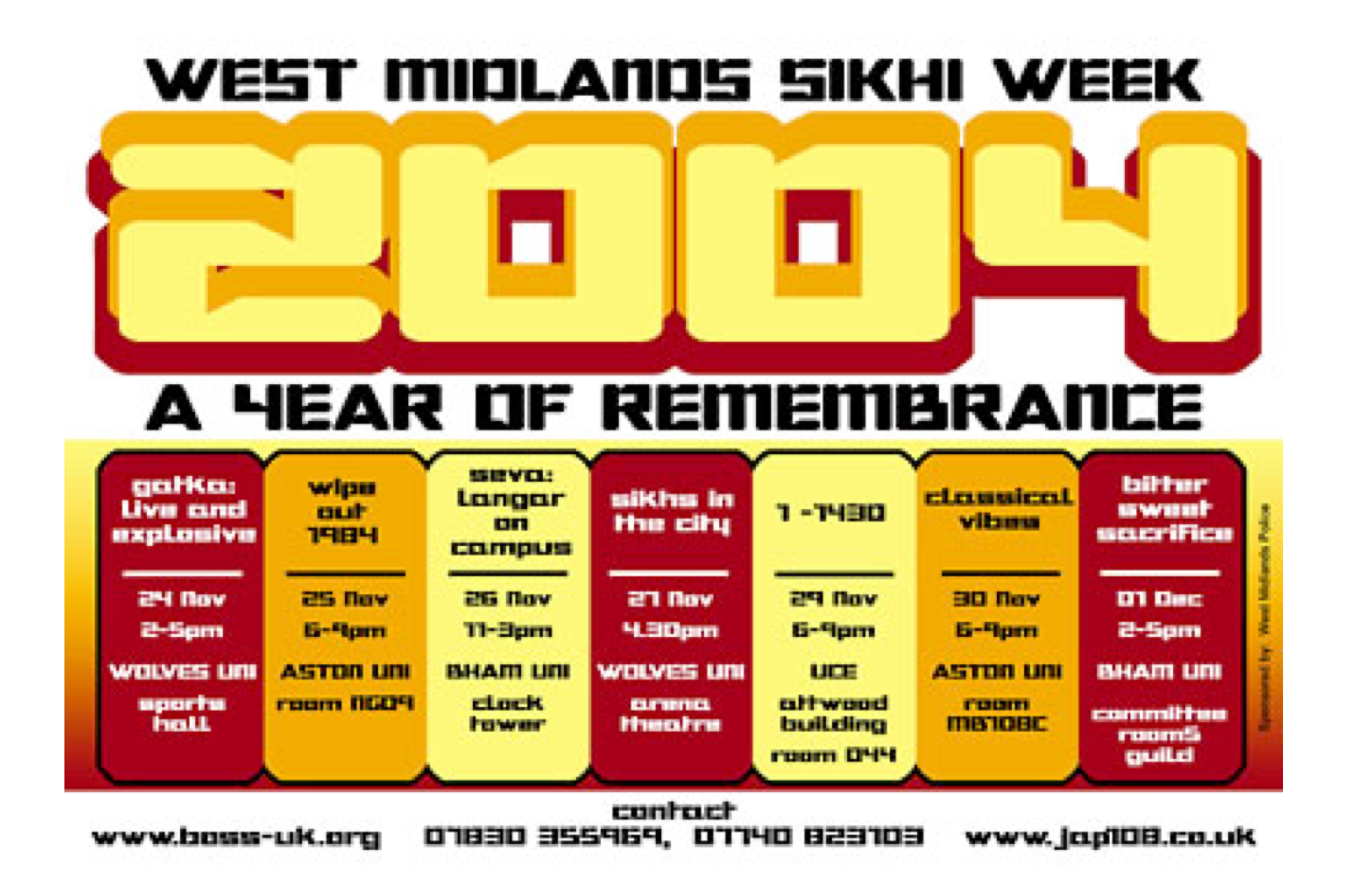The first Langar on Campus was a part of the ambitious West Mildands Sikhi Week that took place in November 2004