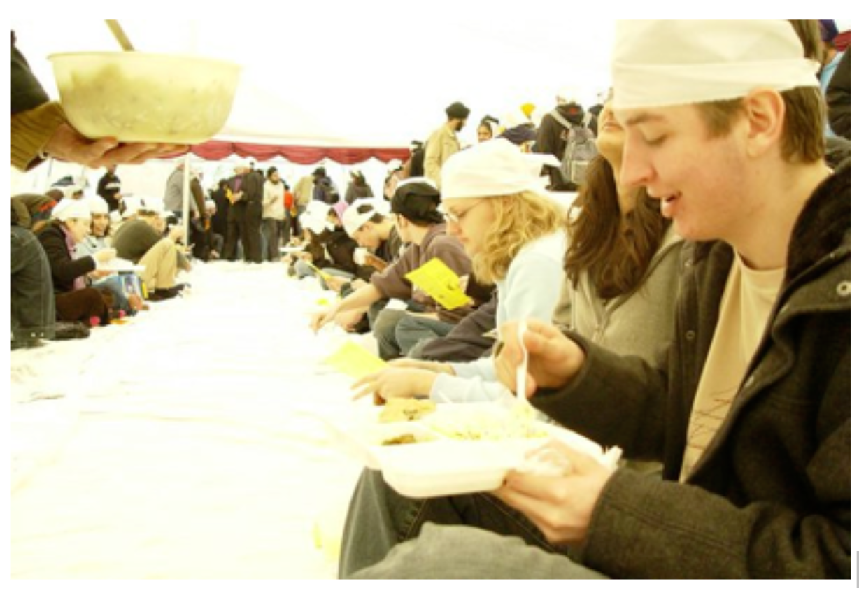 A full marquee at the first Langar on Campus event