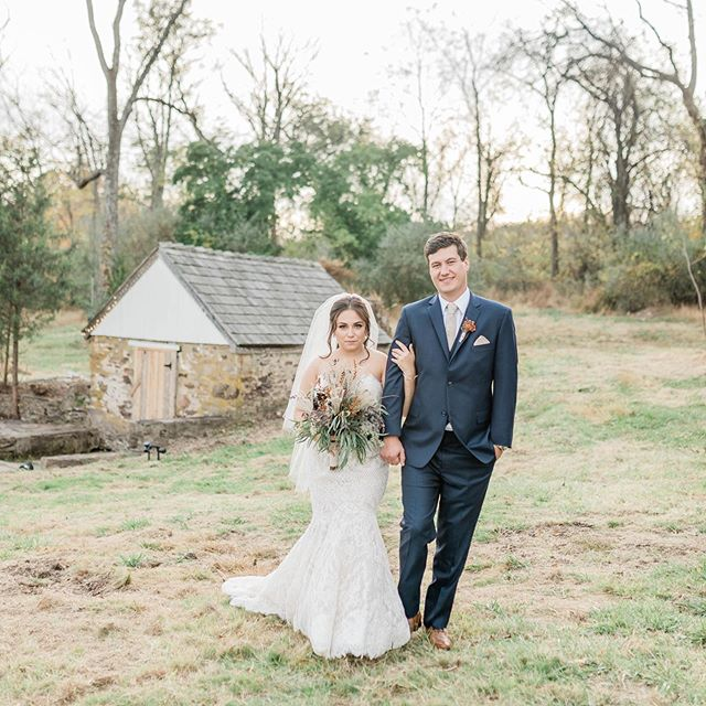 Ani & Christian tied the knot on this gorgeous property and we had so much fun capturing it for them!  Hair: @hairbyjillbrown Makeup: @lanette.aloi.artistry  Florals: @tracy.pie  Dress: @bhldn Tux: @ventrescaltd  Invitations: @minted  #buckscountybride #buckscountyweddings #buckscountyweddingphotographer #farmwedding #barnwedding #fallwedding #buckscountyweddingvenue #philadelphiaweddingphotographer #couple #bhldnbride #bhldn #canonwedding