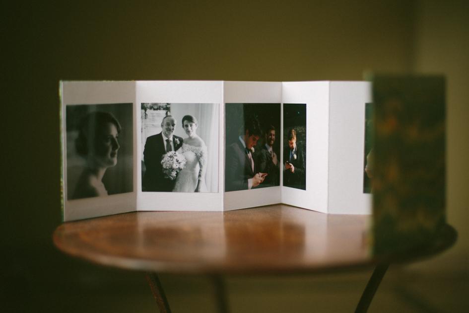 Libro de boda desplegado