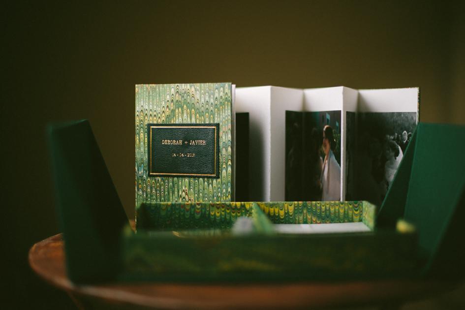 Álbum de fotos de boda japonés y caja