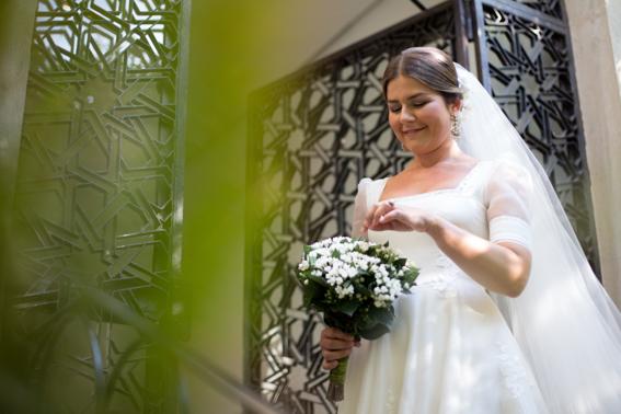 Novia y ramo de novia