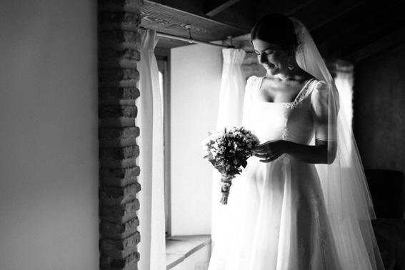 Novia y ramo de boda