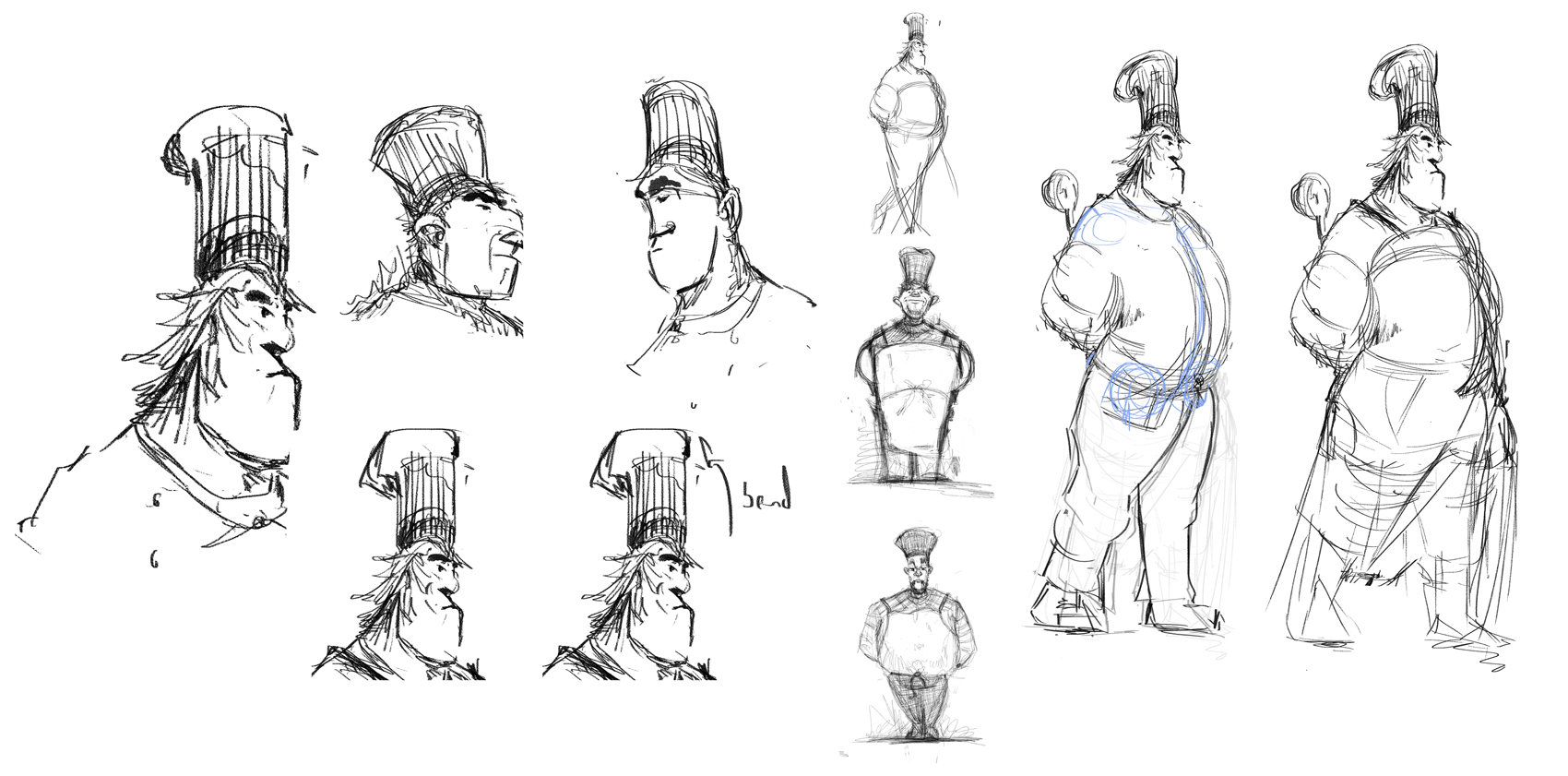 Development sketches to find a direction.