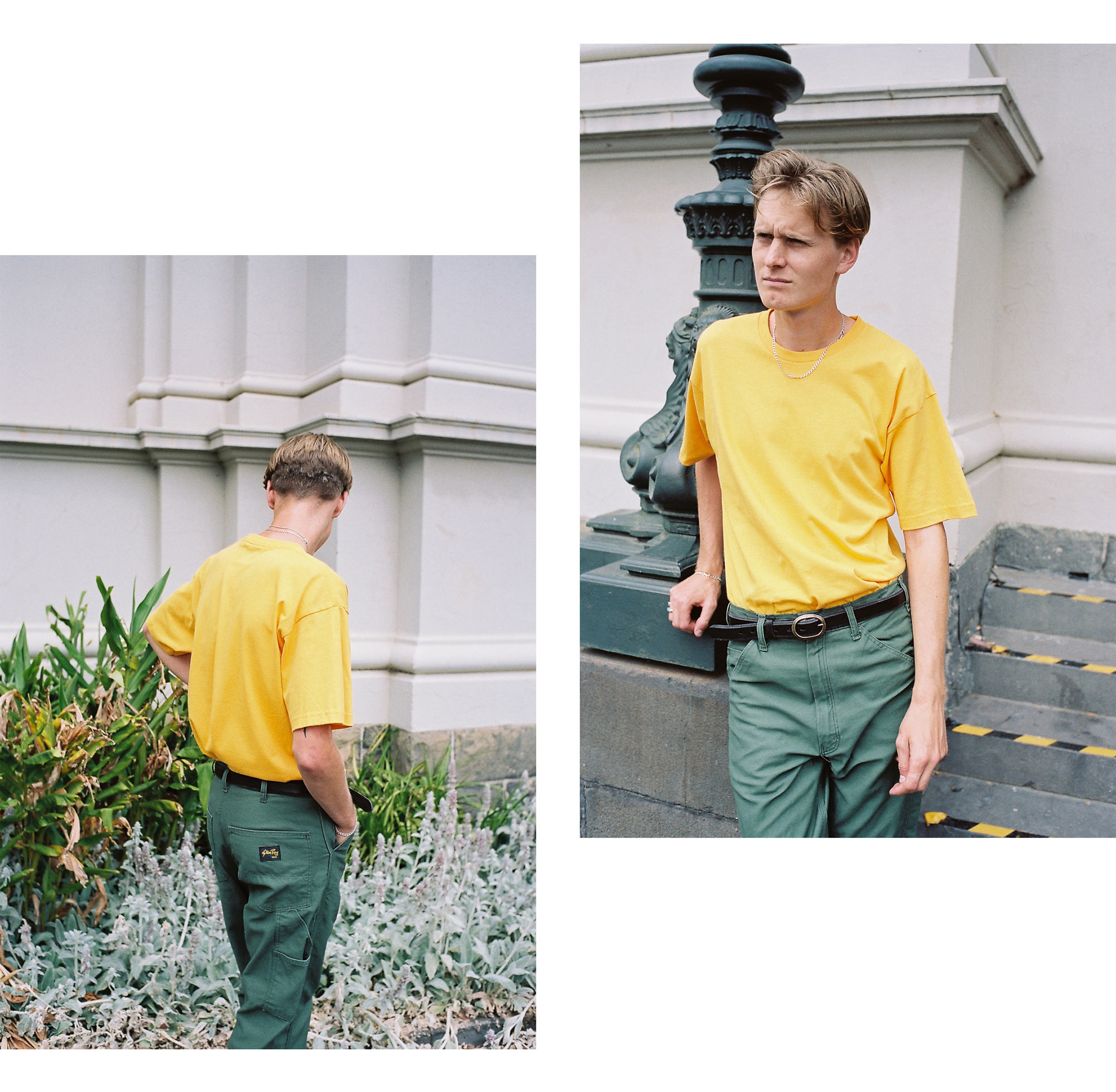 Stan Ray USA December Editorial Painter Pant Olive Sateen